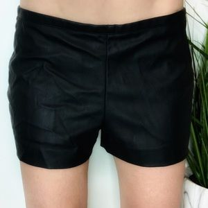Express Faux Black Leather Shorts Size 2